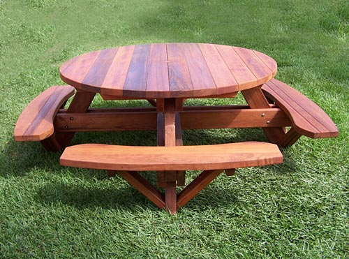 Plans for Round Wooden Picnic Table
